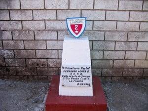 Homenaje al Mártir FERNANDO ACUÑA, de la 2ª Compañía