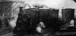 Tren en Capitán Pastene, circa 1920