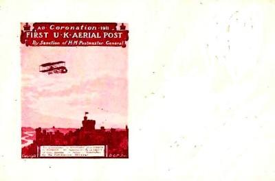 Esquelas y sobres como este con un reproducción del Castillo de Windsor se pusieron a la venta previo al despacho del correo