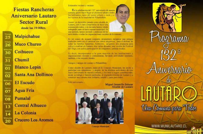 Programa 132º Aniversario de Lautaro