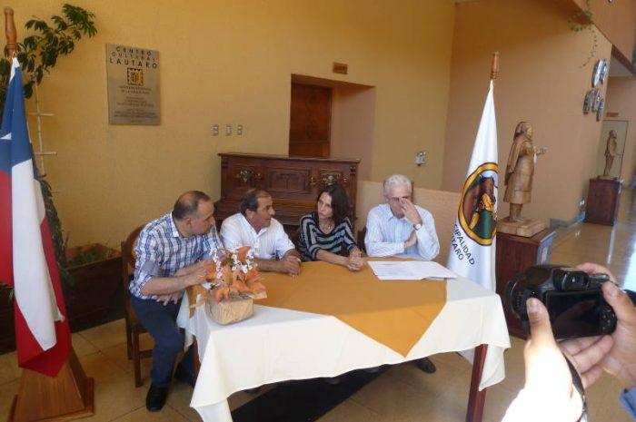 Lautaro. Alcalde firma importante acuerdo cultural