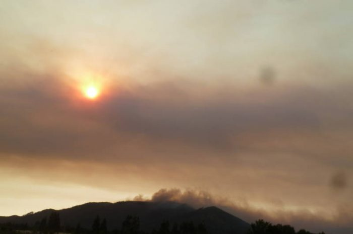 Incendio en los Cerros Ñielol