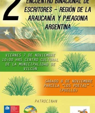 2º Encuentro Binacional de Escritores en Vilcún. Araucanía y Patagonia Argentina