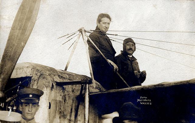 100 años del vuelo de David Manuel Fuentes Soza bajo el Viaducto del Malleco