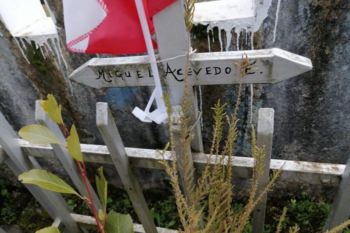 Veteranos de la Guerra del Pacífico en  el cementerio de Lautaro