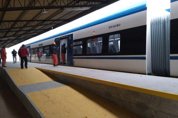 EFE da inicio al rodaje técnico de tren chino de pasajeros Victoria a Temuco